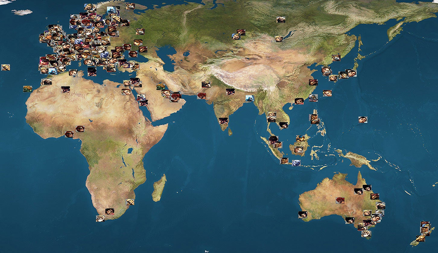 Map Of 6000 Street Fighter Players Shows Where They Live, Who They Use