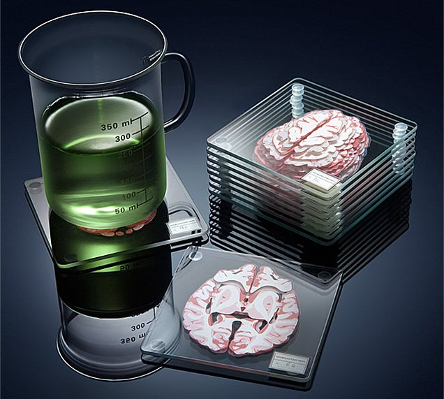 Learn About the Brain While Destroying Yours With These Drink Coasters