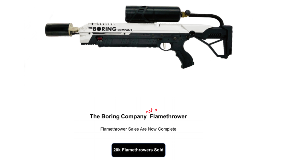 Elon Musk Claims He Can Get Through Customs By Labelling Shipments 'Not A Flamethrower'