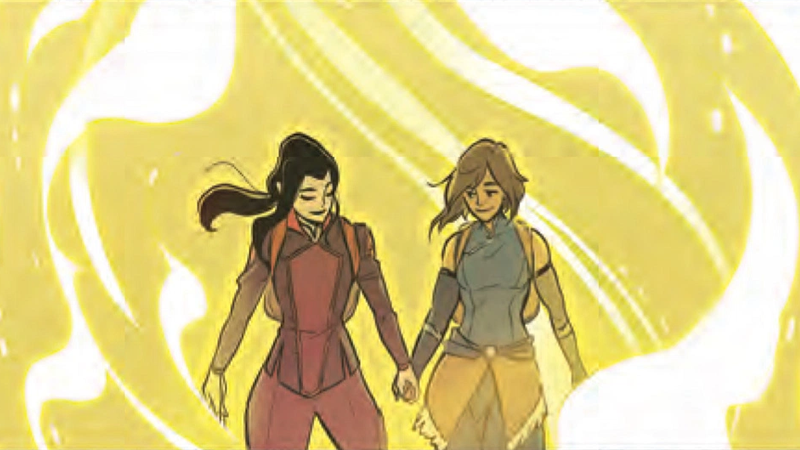 Get A Look At Korra And Asami's First Date In The New Legend Of KorraComic