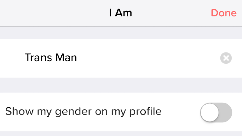 Tinder Introduces More Inclusive Gender Options