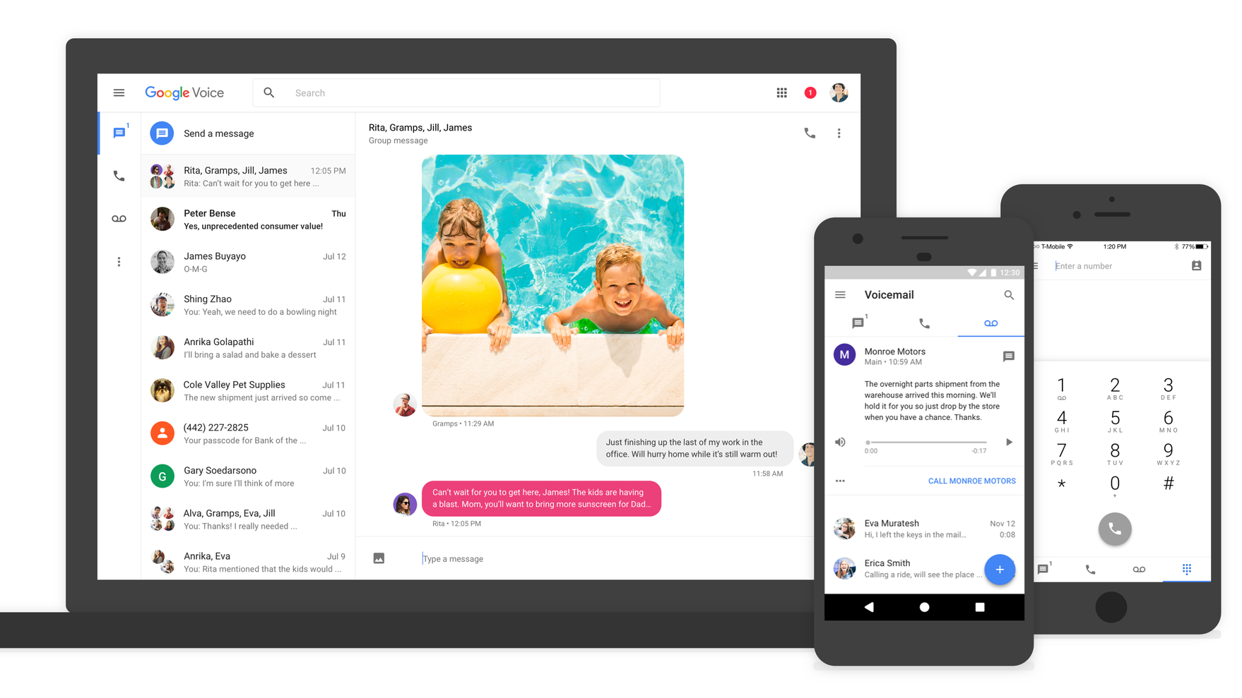 Google Voice Gets Group Texts, MMS And A New Look After Years Of Stagnation