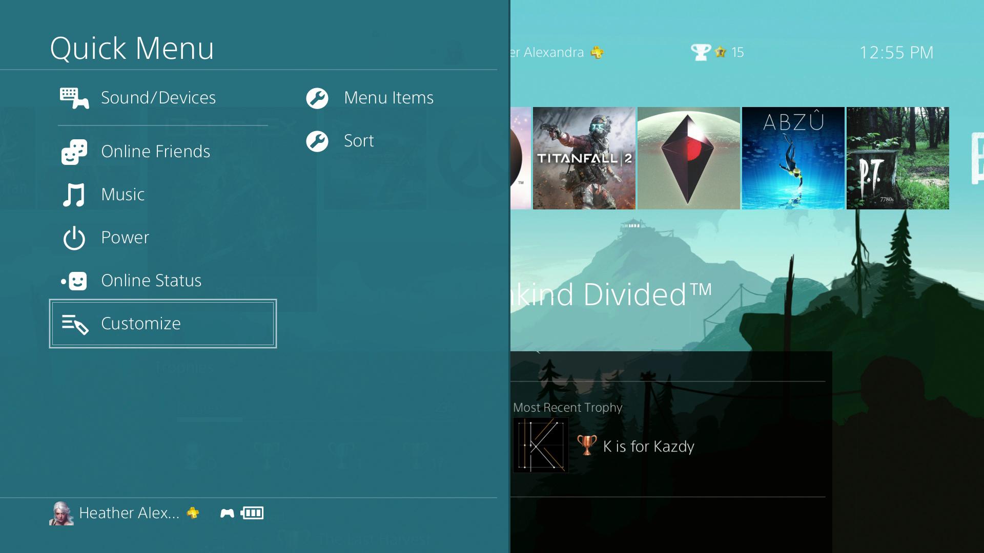 The PS4's New Quick Menu Is A Nice Improvement | Kotaku