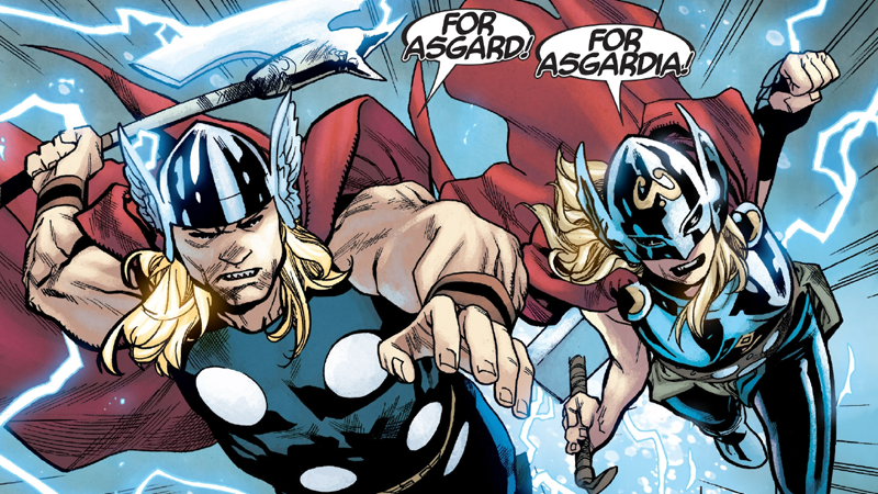 Putting Two Thors Together Shows The Human Side Of The Gods Of Thunder