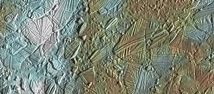 Europa's Icy Surface Looks Like Cracked Glass