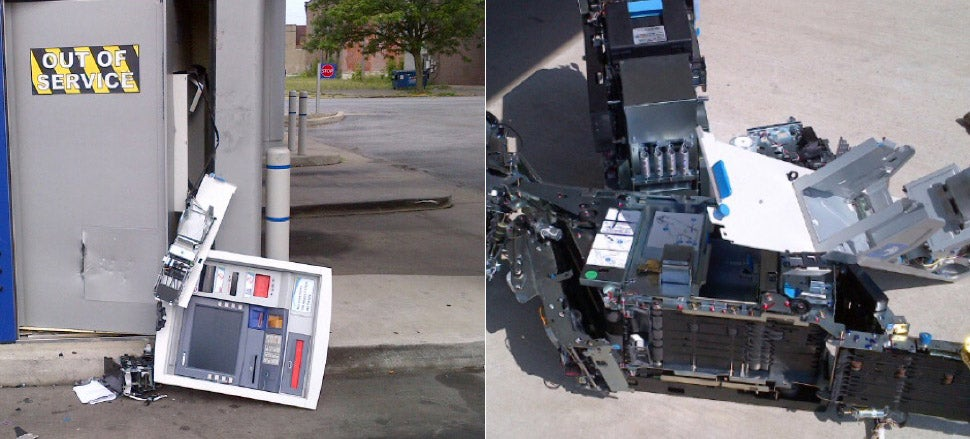 What Happens When Criminals Take the Concept of ATM Hacking Literally