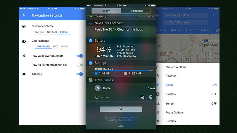 Google Maps for iOS Adds Travel Times Extension, Easy Sharing, and Customisable Night Mode