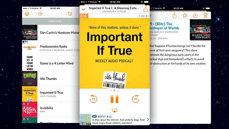 Overcast Cleans Up The Interface, Adds Widget Support, And Improves Podcast Queuing