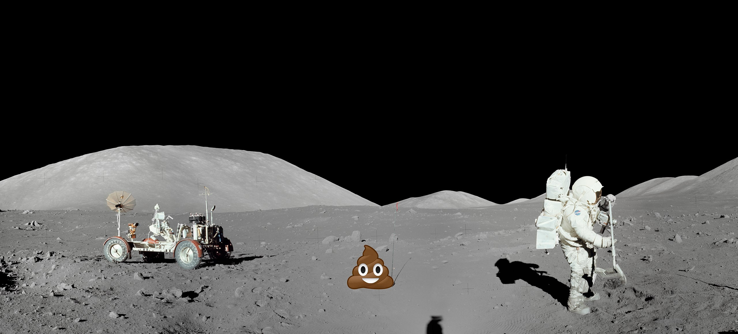 There's Poop on the Moon