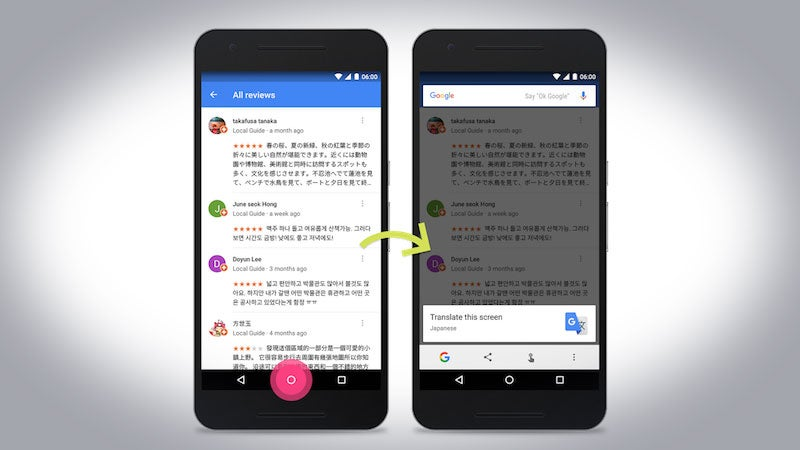 Google's Now On Tap Adds Translation, Article Discovery And Barcode Search