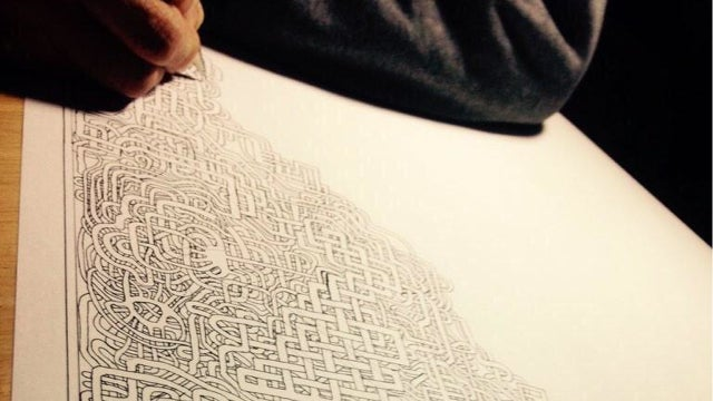 After 30 Years, Father Draws Another Beautifully Hard Maze