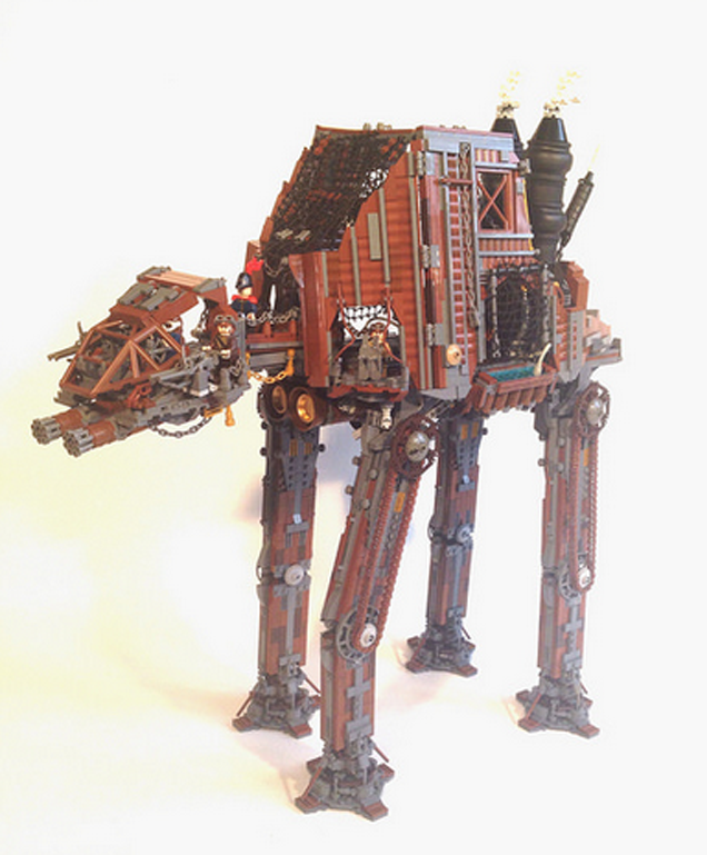 Steampunk Star Wars AT-AT Would Be The Slowest Thing In The Galaxy