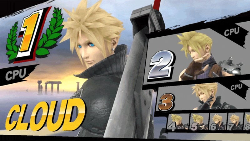 Cloud Is One Salty Loser In Super Smash Bros.