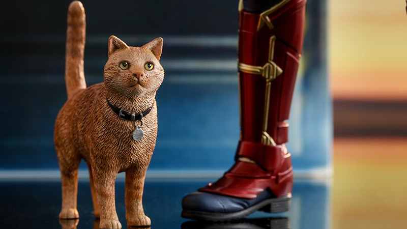 Hot Toys' Ridiculous Level Of Detail Applies To Captain Marvel's Cat, Too