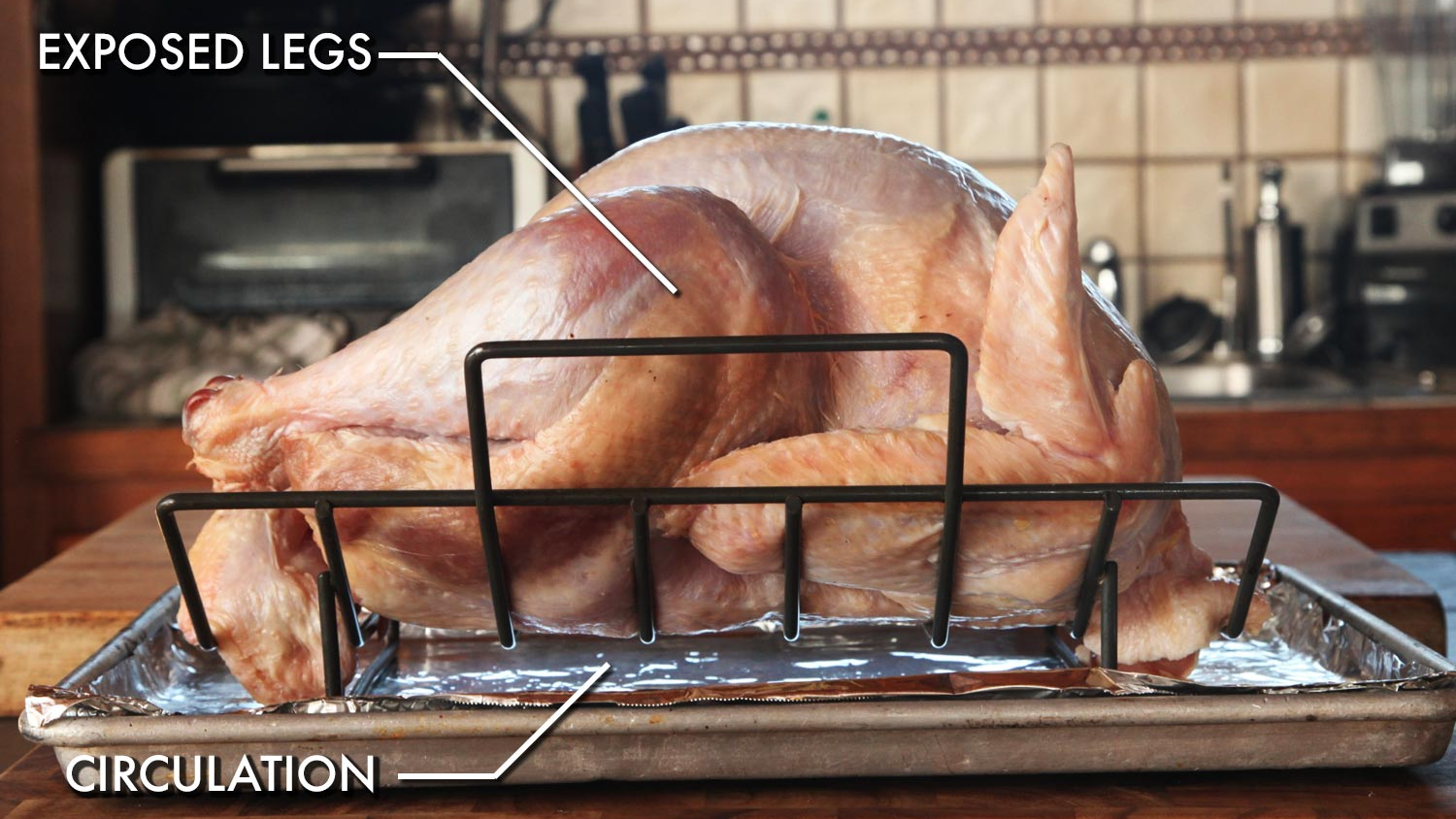 Skip the Expensive Roasting Pan and Use a Rack and Baking Sheet Instead