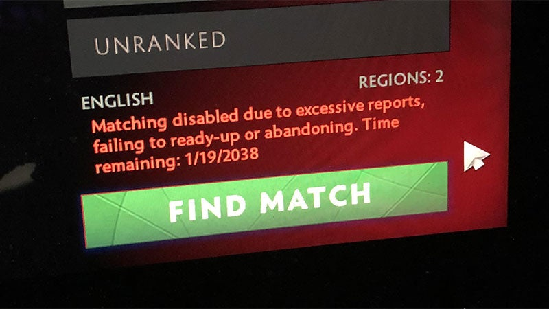 DOTA 2 Cheats Are Getting Their Arses Banned Until 2038