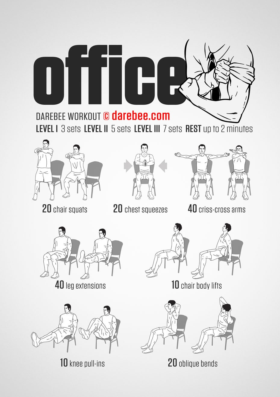 A Full-Body Workout You Can Do In Your Office Chair