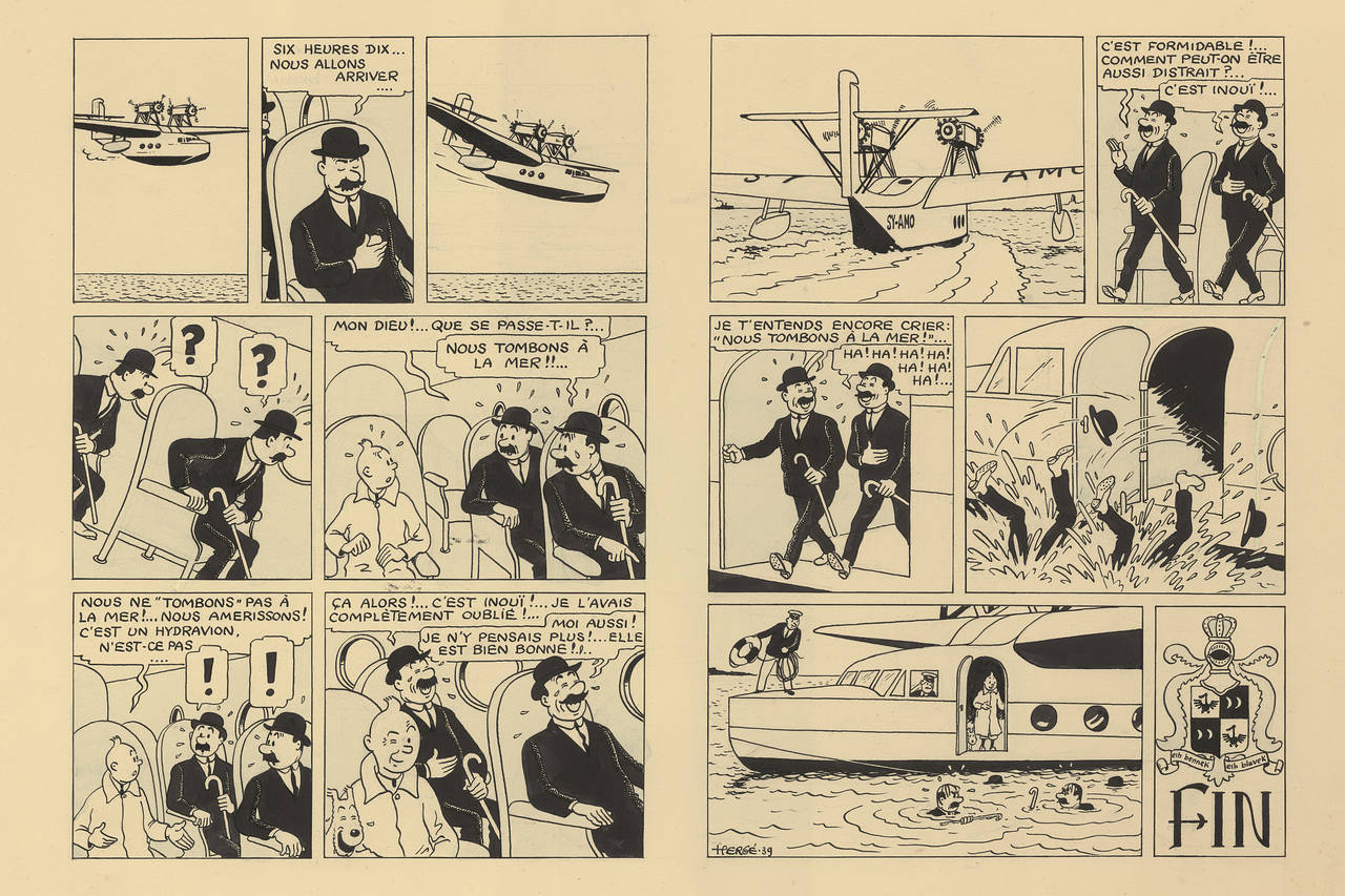 Original Tintin Art Fetches $US1.2 ($2) Million at Auction