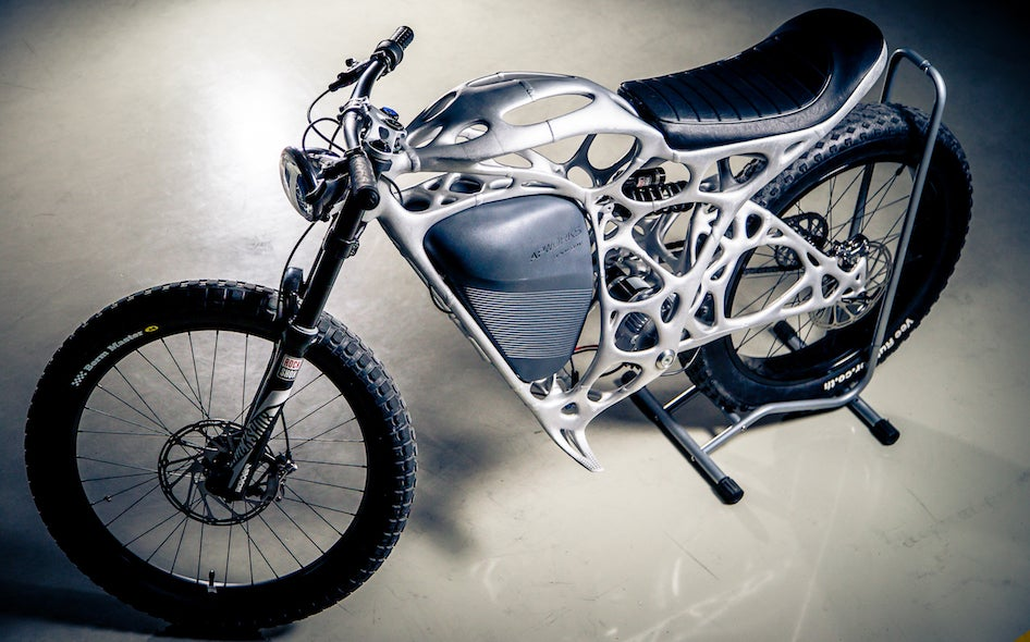 You Can Buy This Crazy, Alien-Like 3D Printed Electric Motorcycle