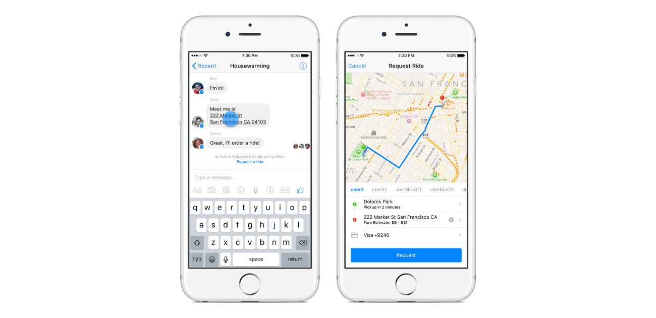 You Can Now Order an Uber From Facebook Messenger