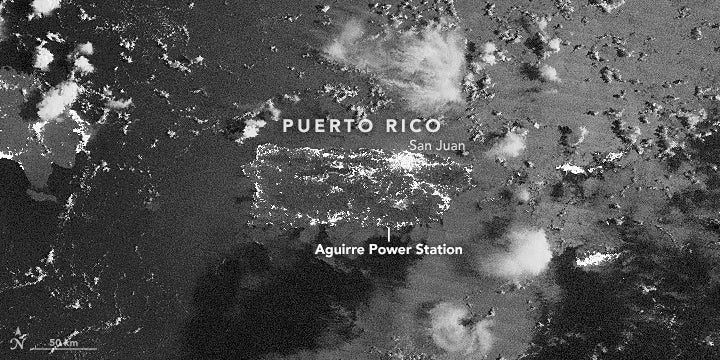 Satellite Images Show The Extent Of Puerto Rico's Huge Blackout
