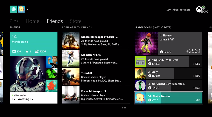 October Xbox One Update Will Make Gamerscore A Bigger Deal