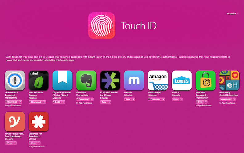 6 iPhone Apps That Use TouchID To Make Your Life Easier