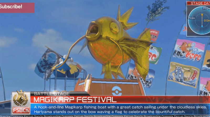Magikarp's Stage On The Pokémon Fighting Game Is Pure Fire