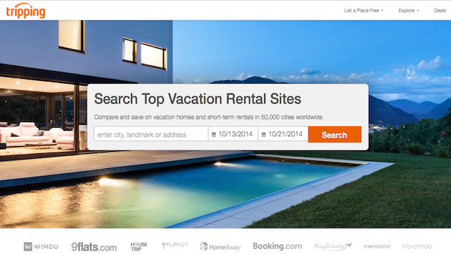 Tripping Helps You Search Multiple Vacation Rental Sites at Once