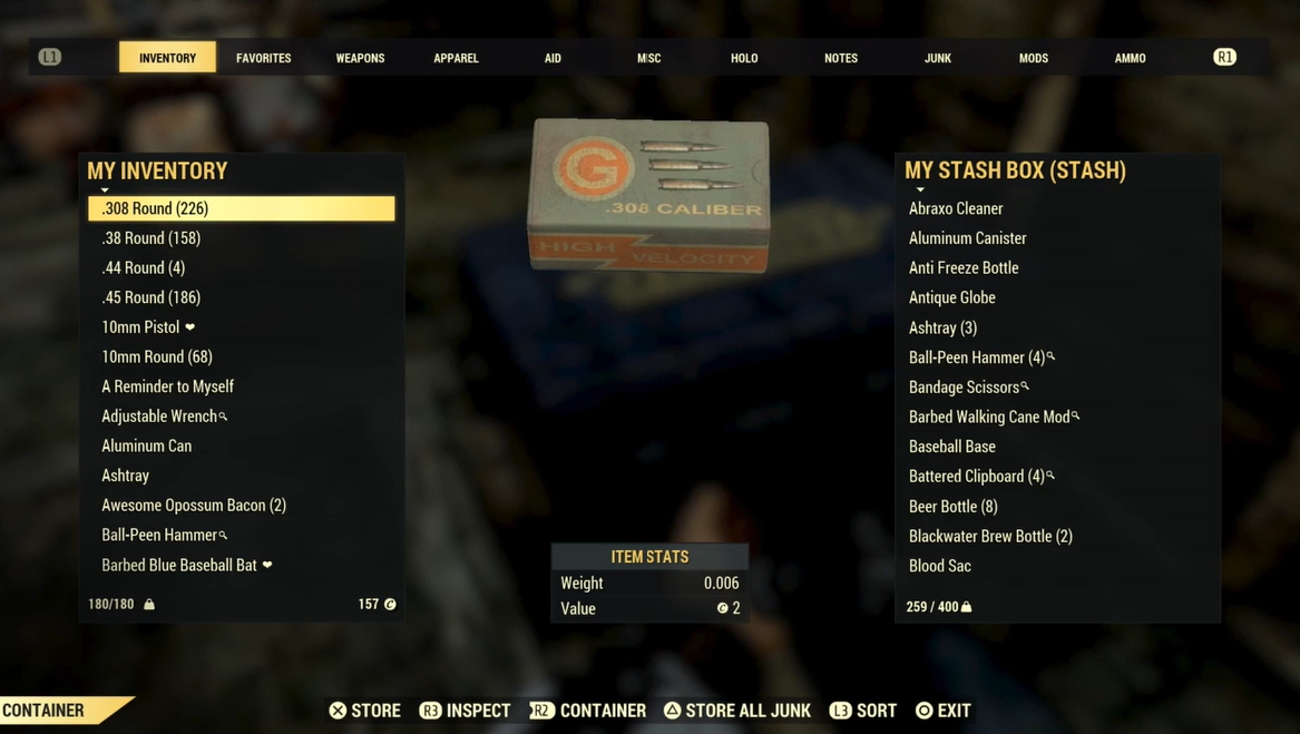 Bethesda Says It Plans To Fix Fallout 76 S Item Storage Problem