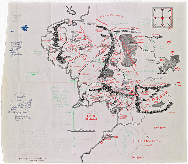 Now Everyone Can See Tolkien's Annotated Map of Middle-Earth in All Its Glory