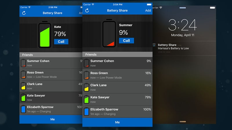 Battery Share Sends Alerts To Your Friends When Your Battery's Low