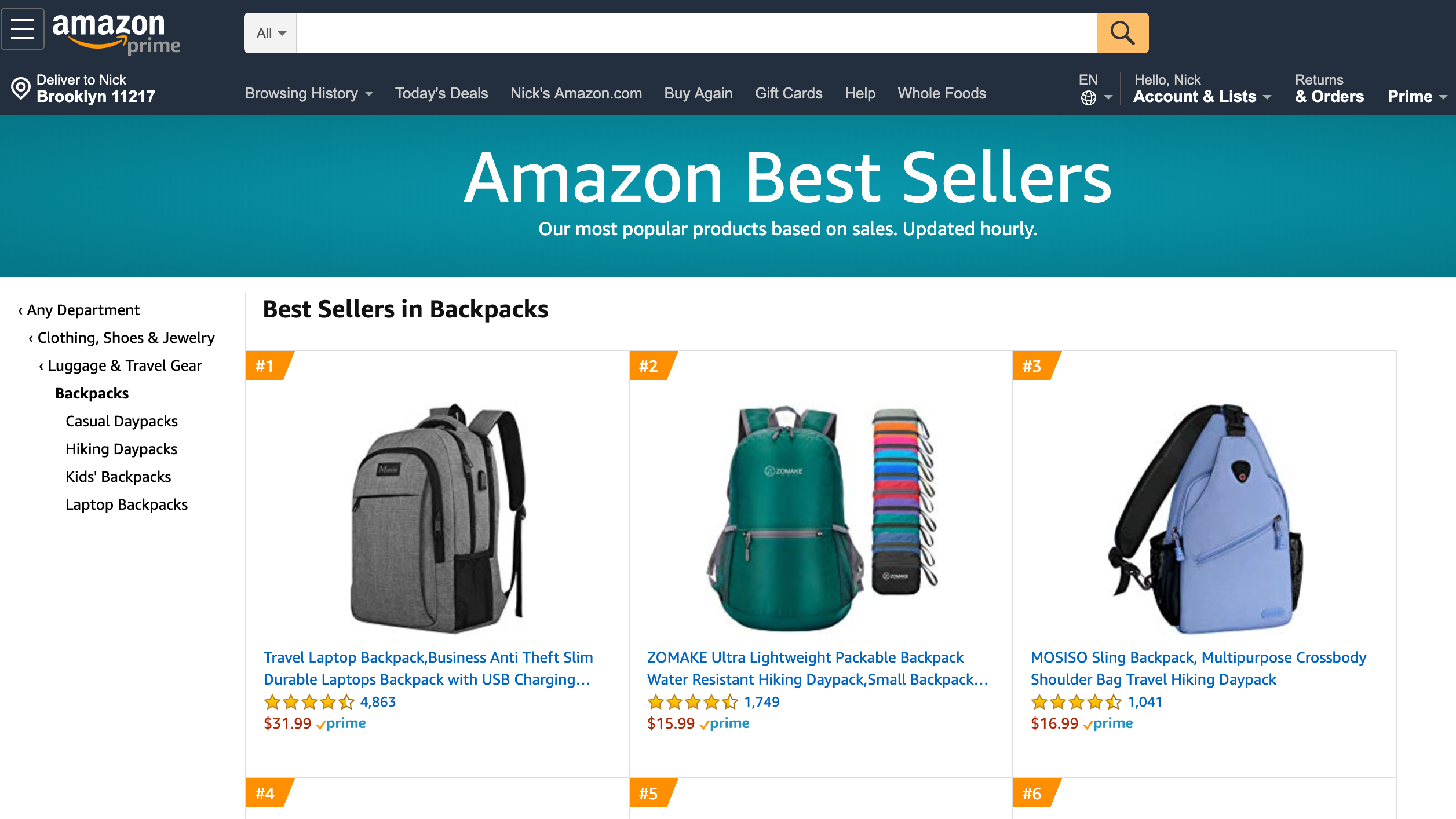 Search Amazon's Bestseller Lists On This Site