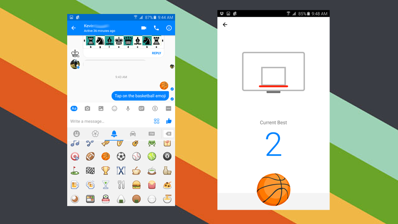How to Play Facebook Messenger's Hidden Basketball Game