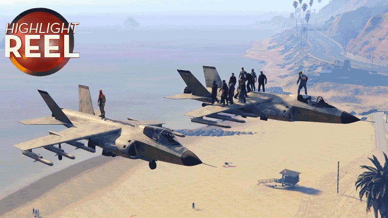 GTA V Players Almost Miss Their Flight