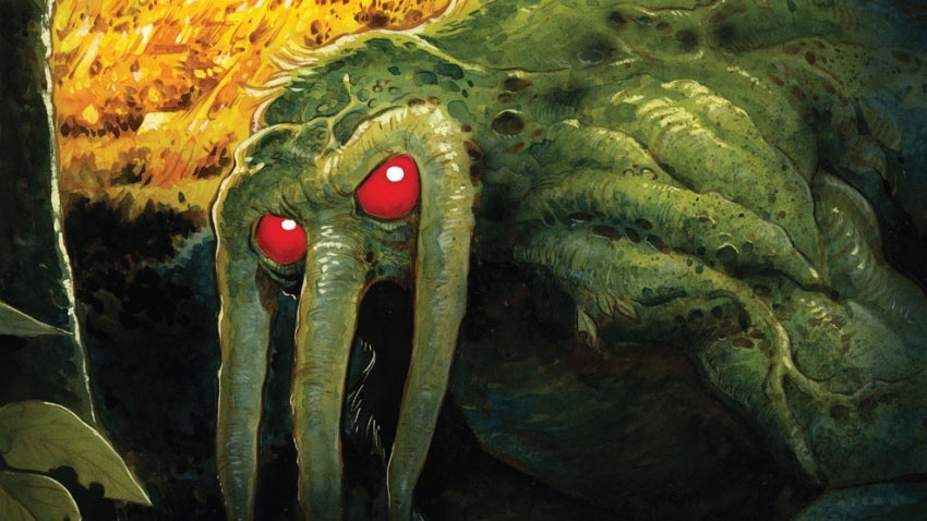 Here's The First Look At R.L. Stine's Creeptastic Marvel Comic, Man-Thing