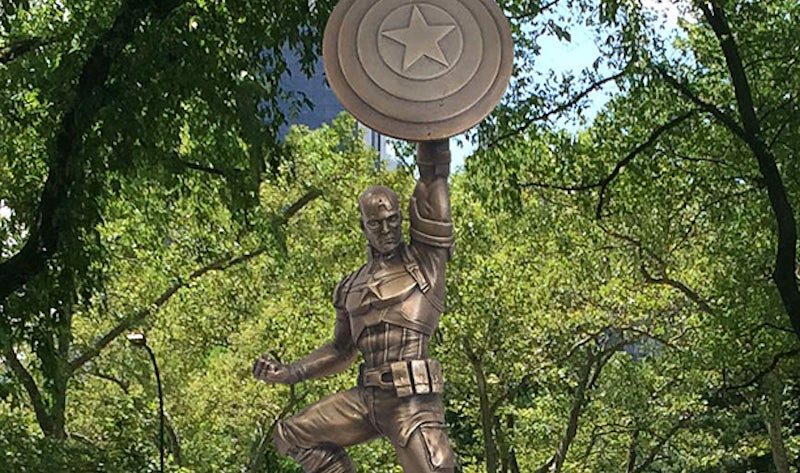 Check Out Brooklyn's Big-Arse Captain America Statue