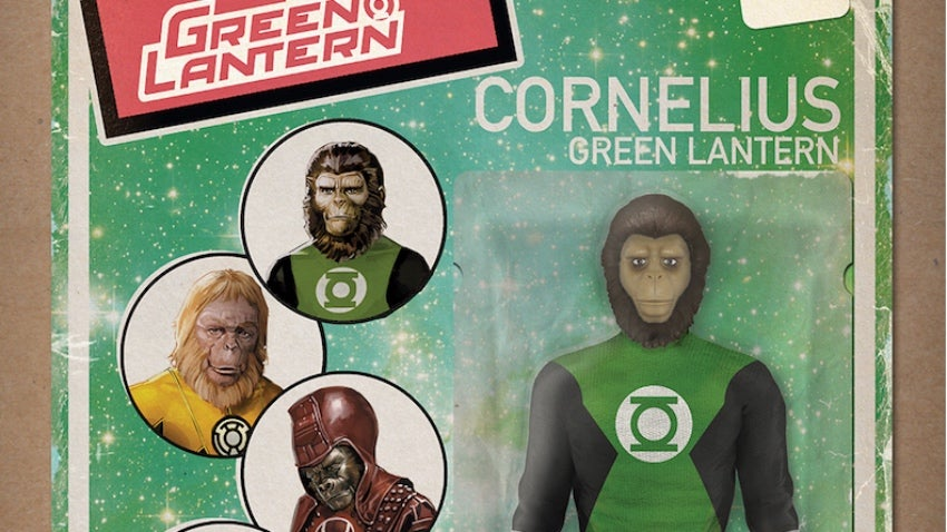 Planet Of The Apes/Green Lantern Crossover Covers Show Cornelius In Action