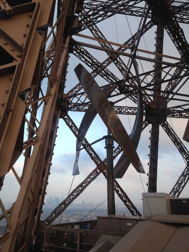 The Eiffel Tower Is Generating Power With a Hidden Wind Farm On Its Legs