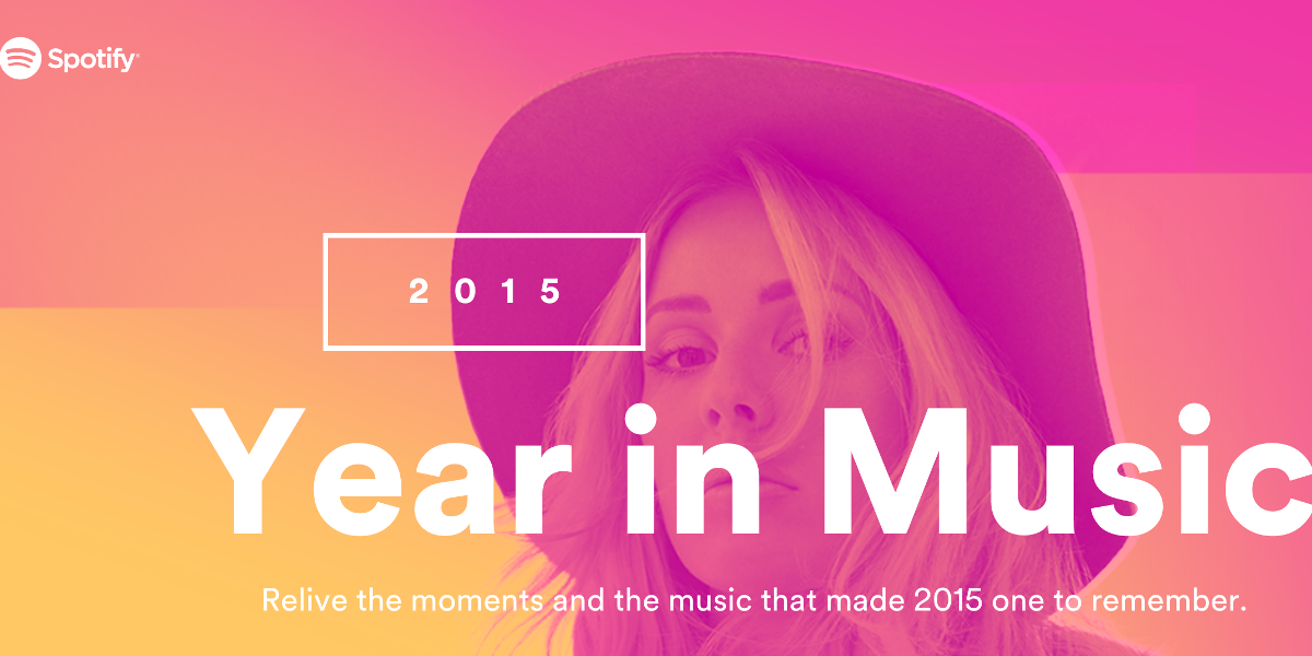 Spotify's 'Year in Music' Tool Tells You How You Soundtracked 2015