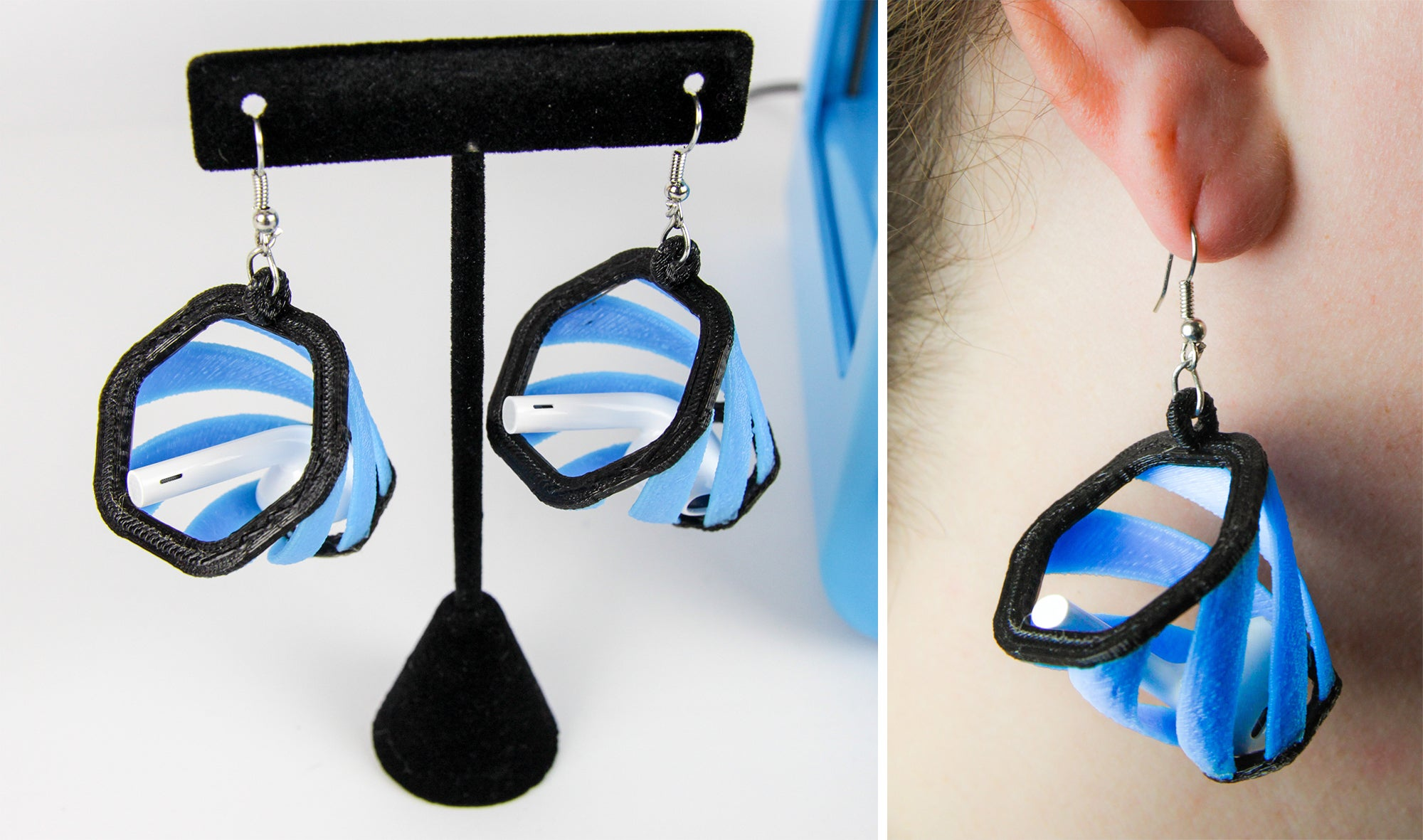 These 3D-Printed Earrings Catch Apple's AirPods When They Fall Out