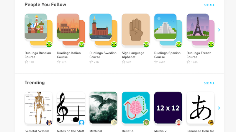 Tiny Cards, Duolingo's Learning Flashcards, Come To The Web