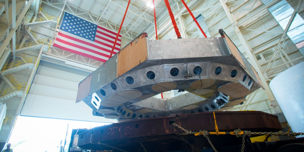 This Giant Shaking Table Will Ensure the Orion Capsule Survives Launch