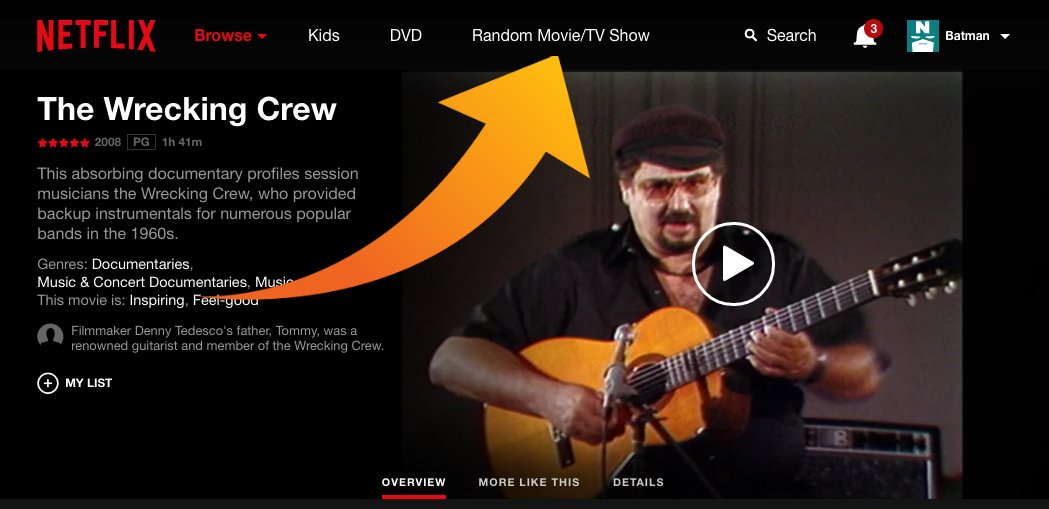 How To Add A Button To Netflix That Serves Up Random Videos