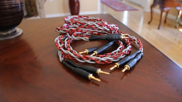 Make Your Own High-End Looking Speaker Cables On the Cheap