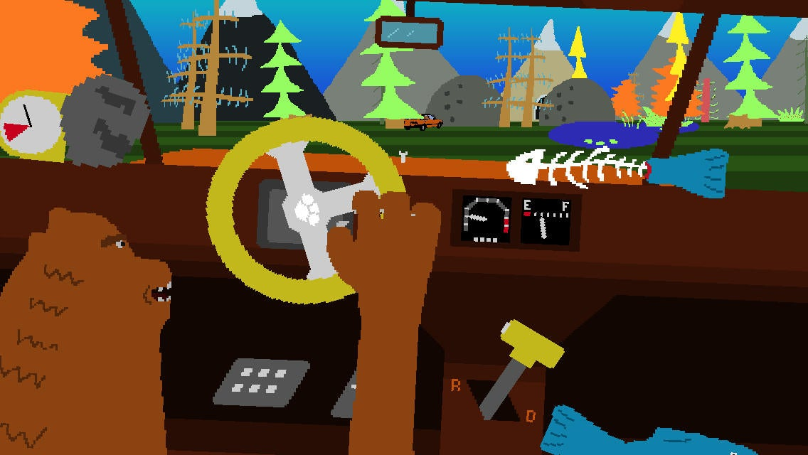 An Indie Game About A Bear And Some Wacky Car Physics