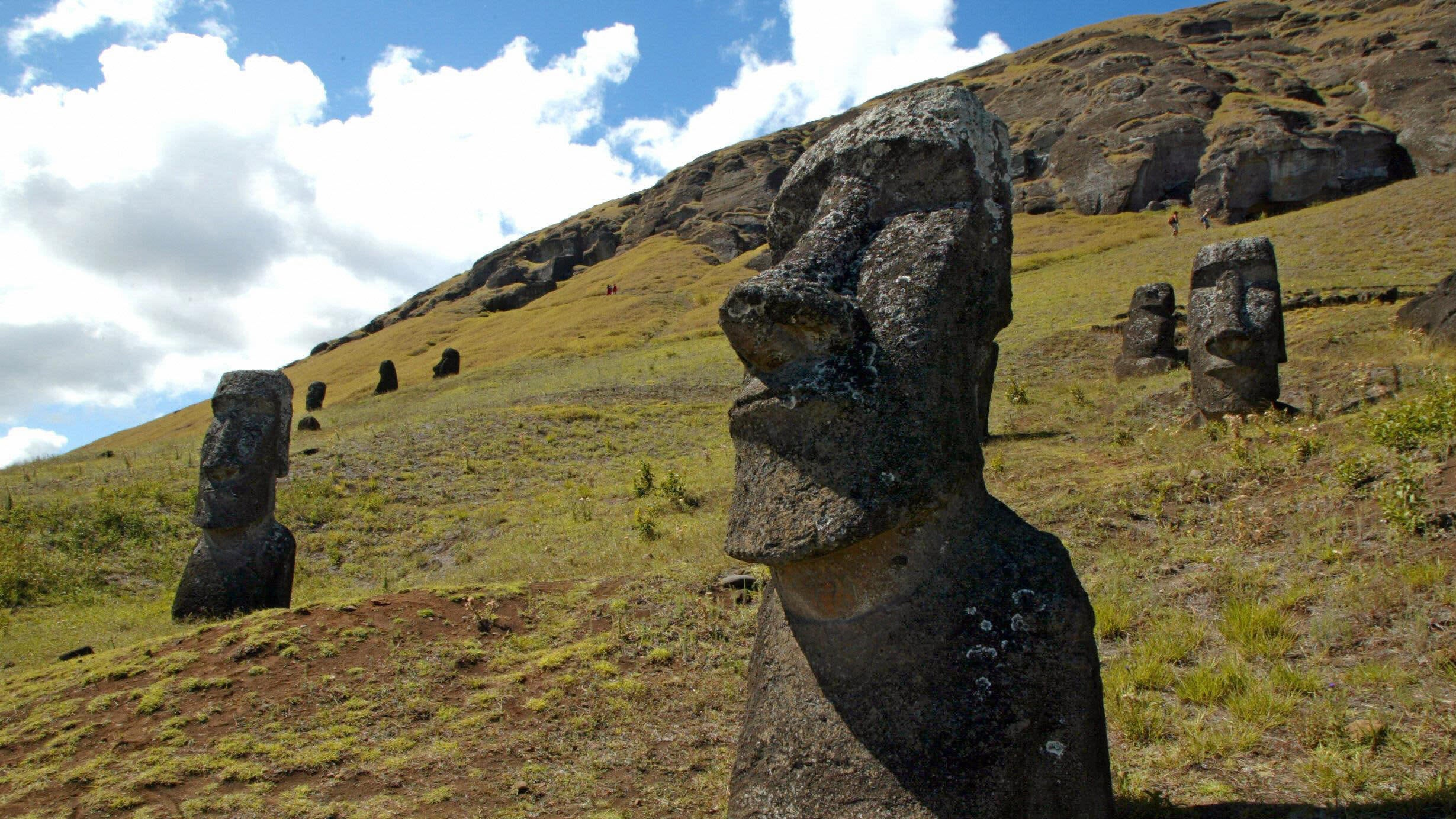 Pickup Truck Crashes Into Easter Island Rock Statue