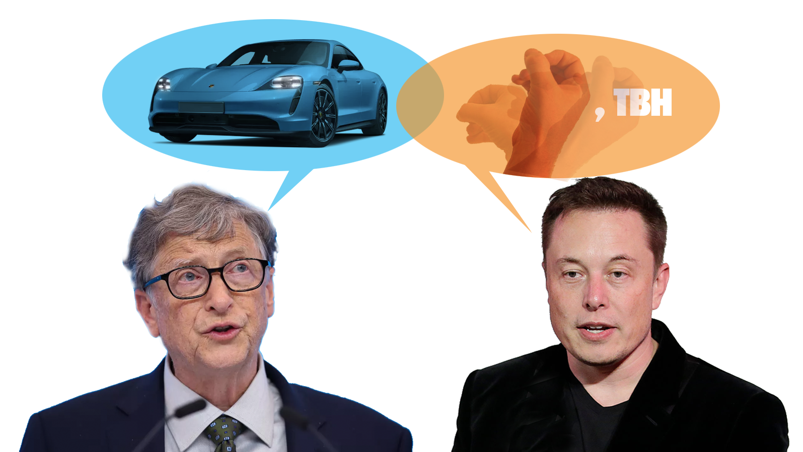 Bill Gates Buys A Porsche Taycan So Elon Musk Had To Throw Shade Because This Is Modernity