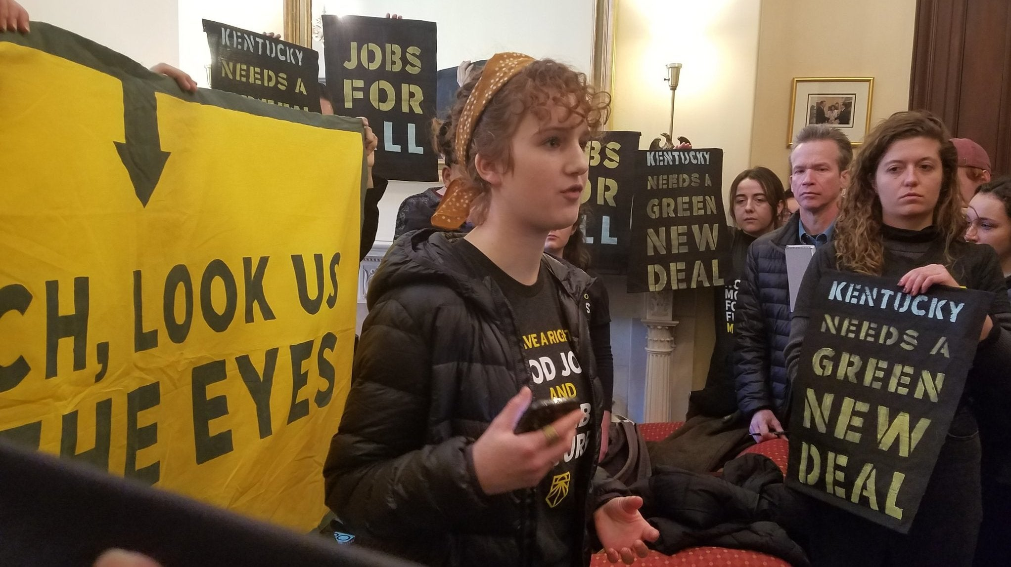 Dozens Of Youth Activists Arrested After Green New Deal Protest In Mitch McConnell's Office