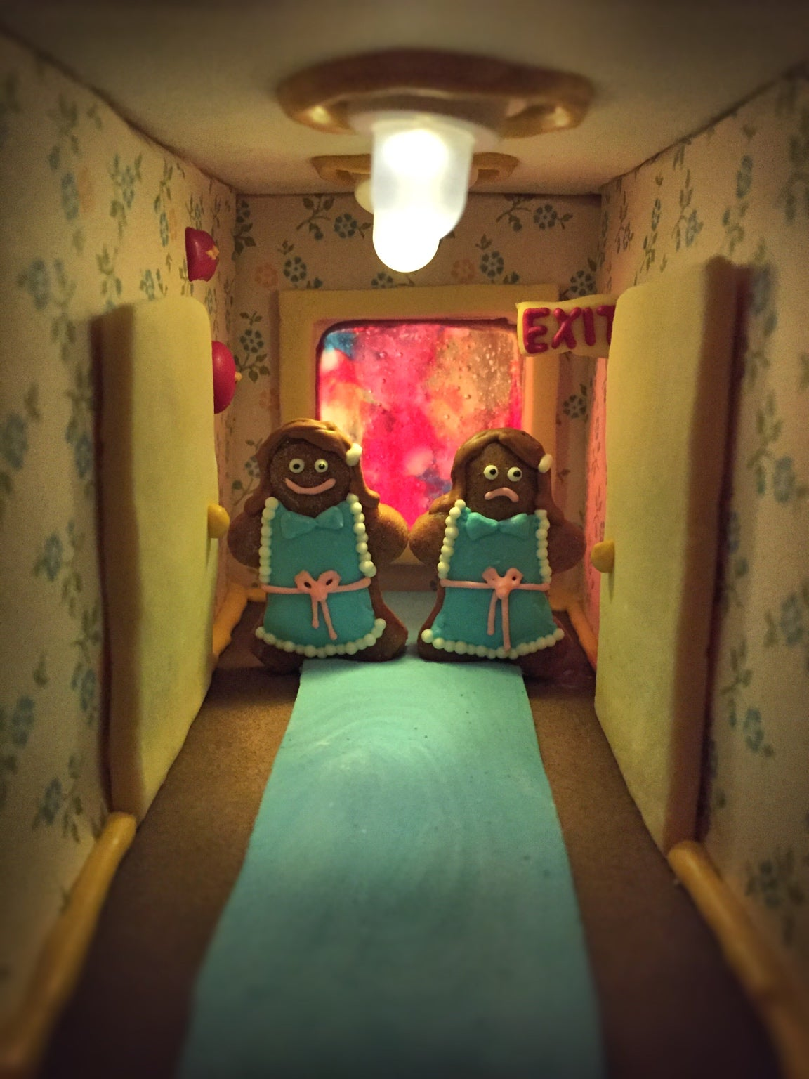I Hope No One Tries to Hack This Shining-Inspired Gingerbread Hotel to Pieces With a Knife